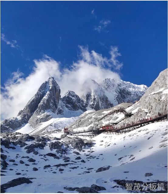 玉龍雪山雪景照片